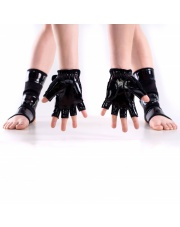 Latex GLOVES for pole dance - black