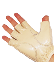 Latex GLOVES for pole dance - beige
